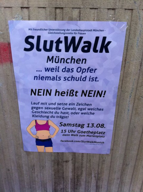 advertisement for SlutWalk