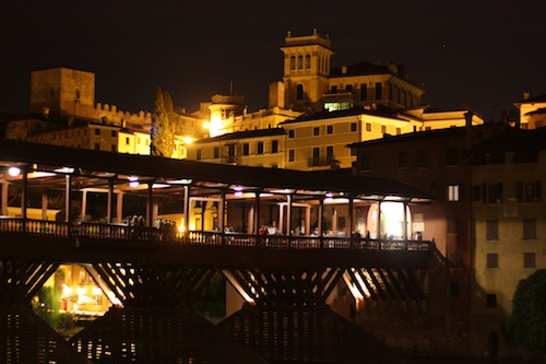 Bassano del Grappa at night