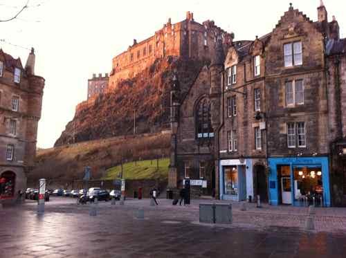 Edinburgh Castle, sunny