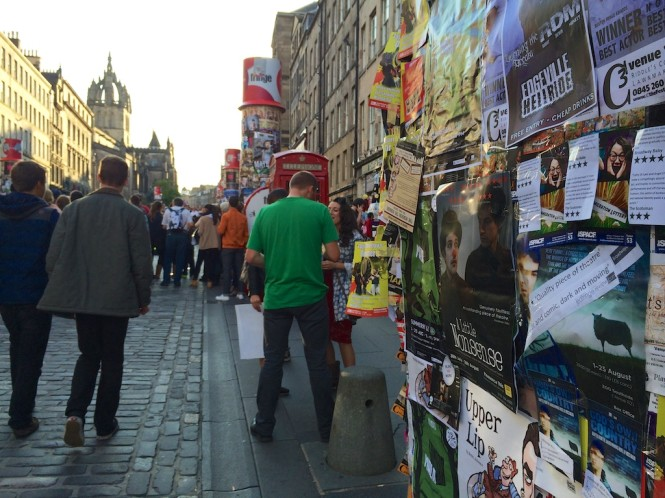 Flyers and crowds as the Fringe takes over Edinburgh's Royal Mile