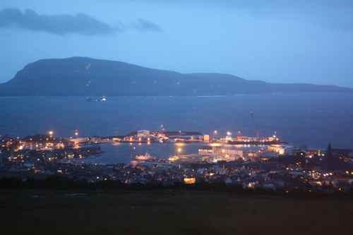stormy view over Torshavn