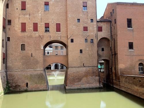 Ferrara castle moat