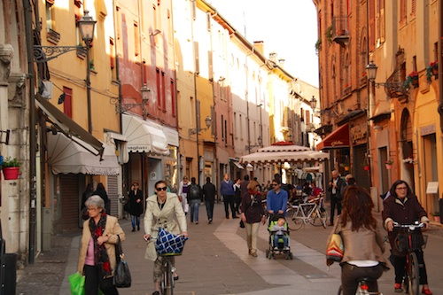 Ferrara cute street one of many