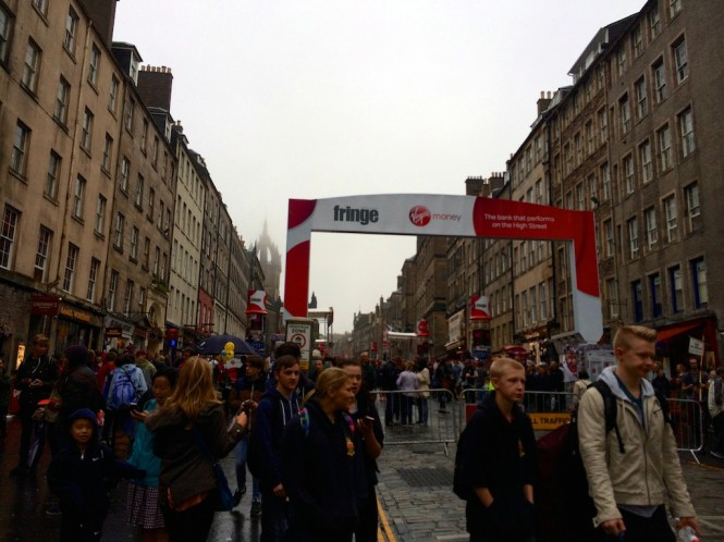 A rainy day at the Fringe