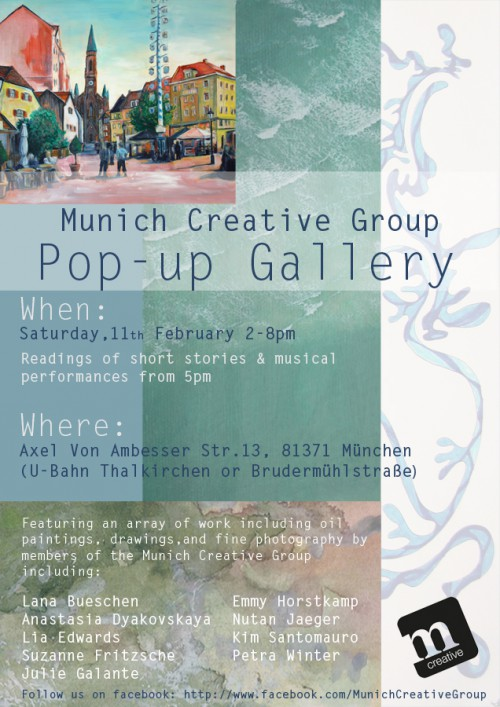 Munich Pop-Up Gallery Flyer