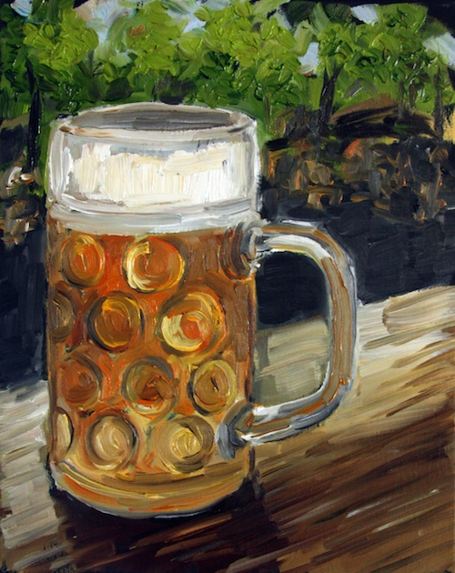 Maß of beer, original oil painting
