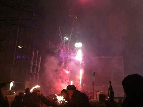 New Year's fireworks in Munich