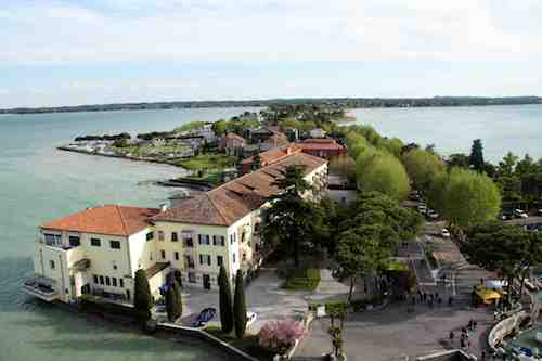 Sirmione: looking down the peninsula towards the mainland
