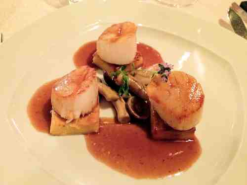 scallops at Hotel Pace