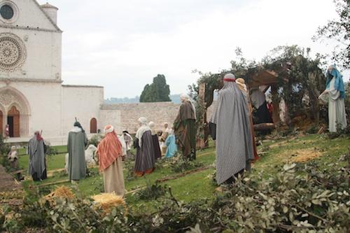 Assisi life-sized nativity scene