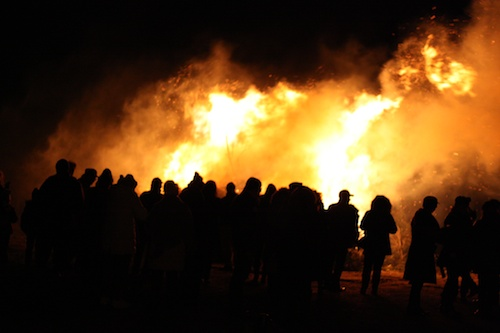 Assisi Focaraccio bonfire