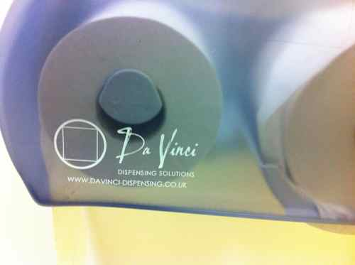 Da Vinci branded toilet paper dispenser