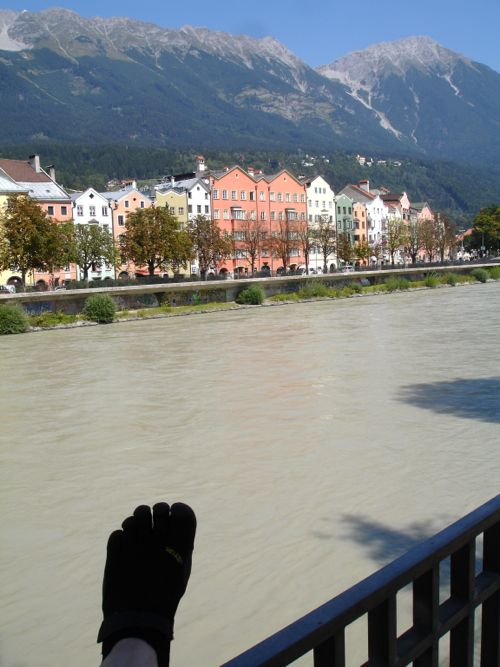 View from my Innsbruck FiveFigers run