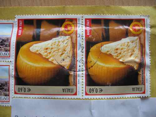 stamps featuring parmigiano