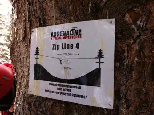 zip line sign