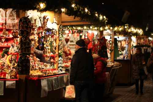 Christmas market in Bressanone, Italy